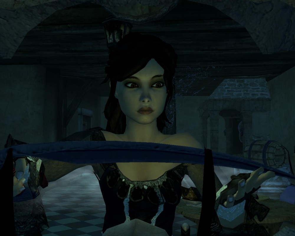 While most characters are flap-jawed caricatures, the facial work on protagonist Scarlett's visage is very well done.