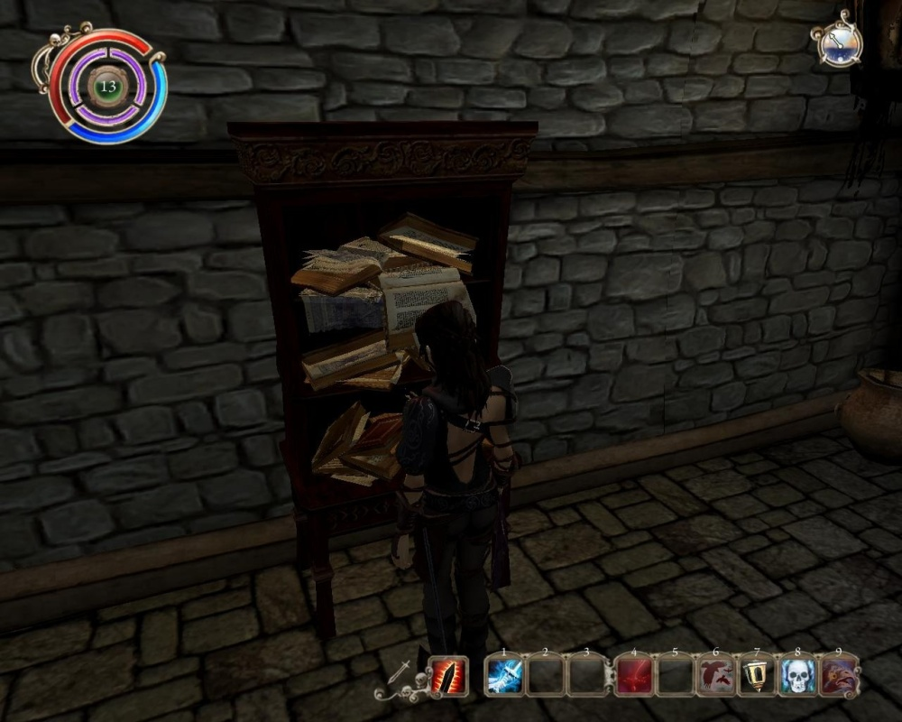 Poor Scarlett can't put a single book back on the shelf without ruining the whole thing.