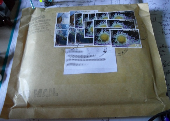It always takes all the stamps for my Marsheaux CDs to get here from Greece.