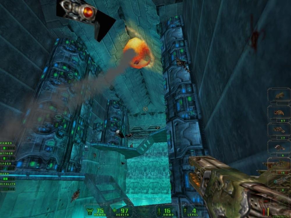 The nice vertical spaces tend to hide the dreaded flying enemies.