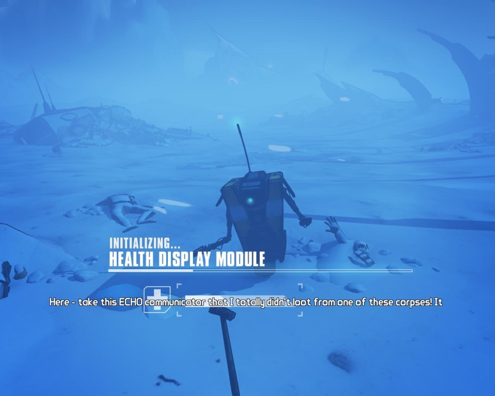 The first twenty-ish minutes of the game are a mighty Claptrap monologue.