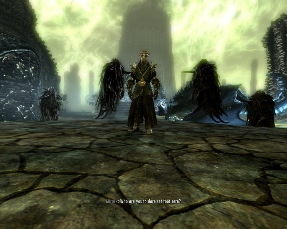 Oh, and Miraak? Cthulhu called, he wants his mythos back.