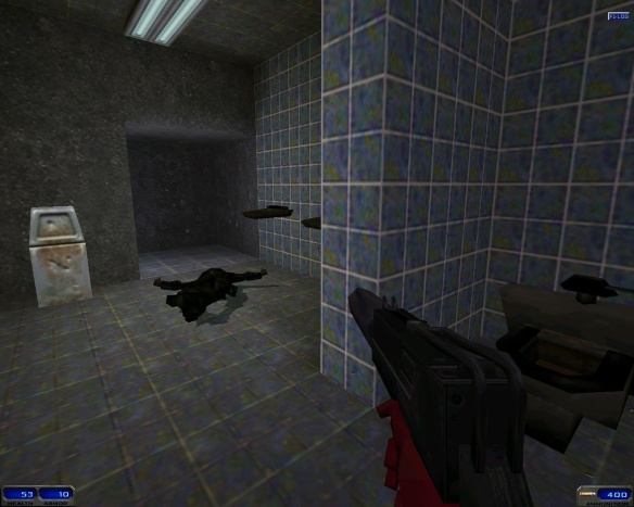... and toilets. You can judge any FPS on the presence of toilets, and there are plenty toilets in Shogo. They just don't flush.