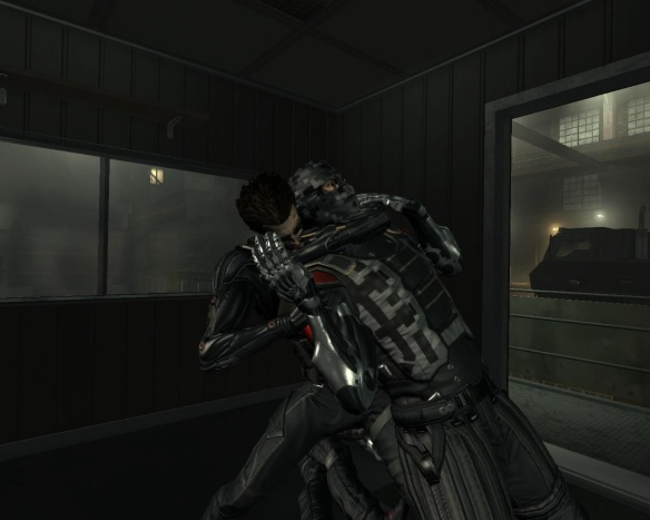 At least, for a few brief moments, the game allows you to hug your enemies.