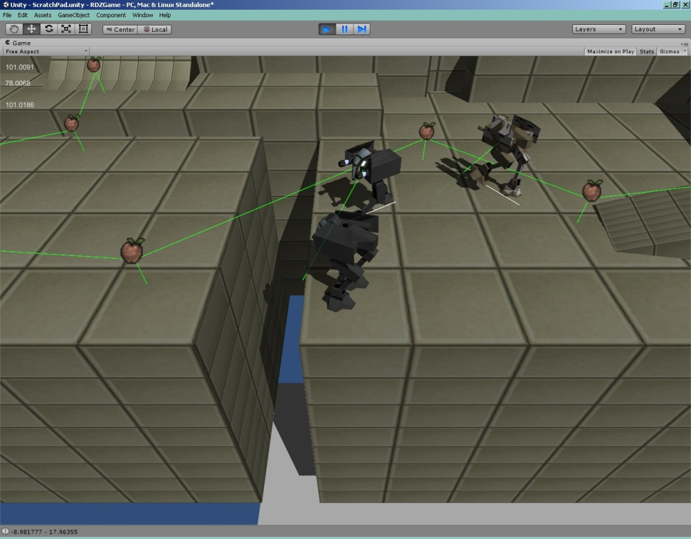 I've also started integrating the faction system that will stop everyone from shooting everyone else.