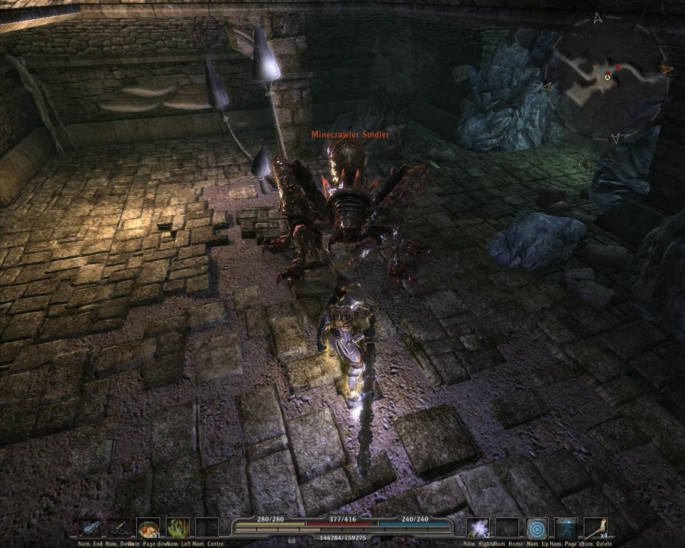 Fighting giant insects in an ancient underground ruin? Awww yeeeeah.