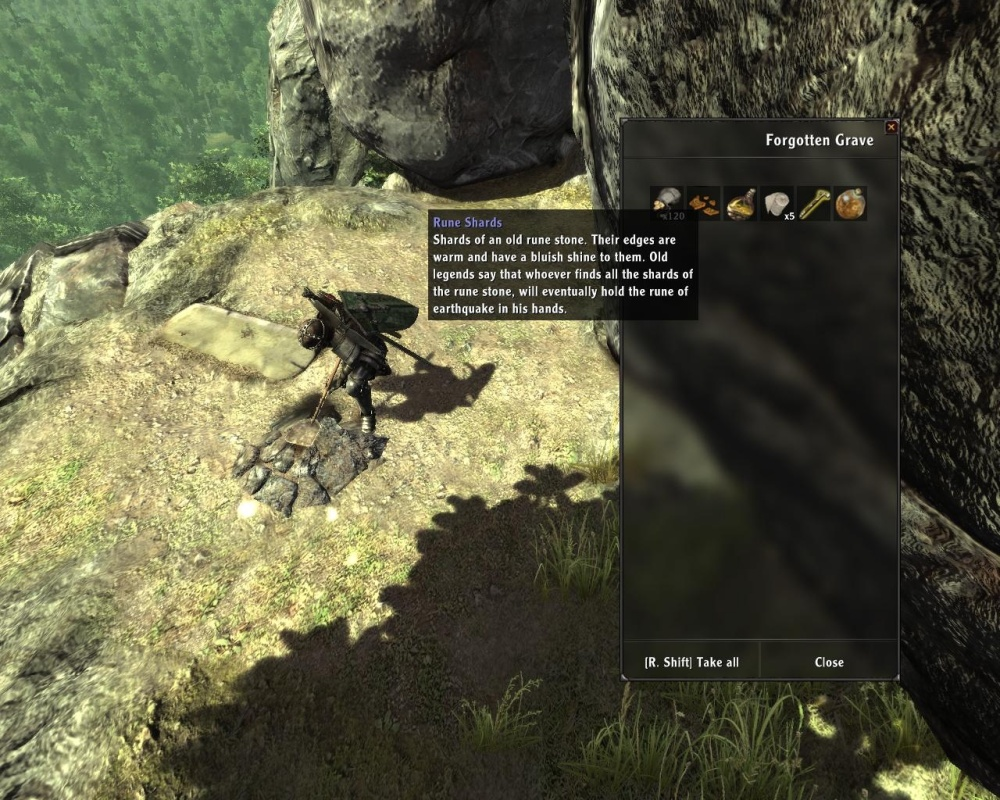 Skyrim should probably have done this -- instead of watching helplessly as your character mines, play the digging animation but let you bypass it with a quick Take All if you're in a rush.