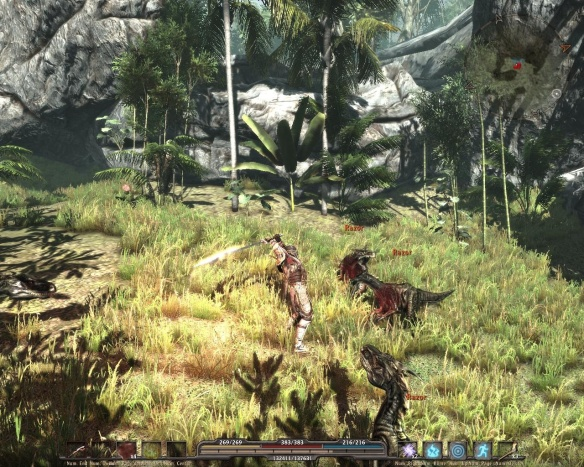 Fighting pseudo-dinosaurs in a luscious jungle? Awwww yeeeeeeah.