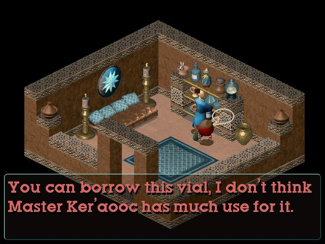 Or, I could go to the shop and buy a vial -- there's no real need to visit Ker'aooc's house either.