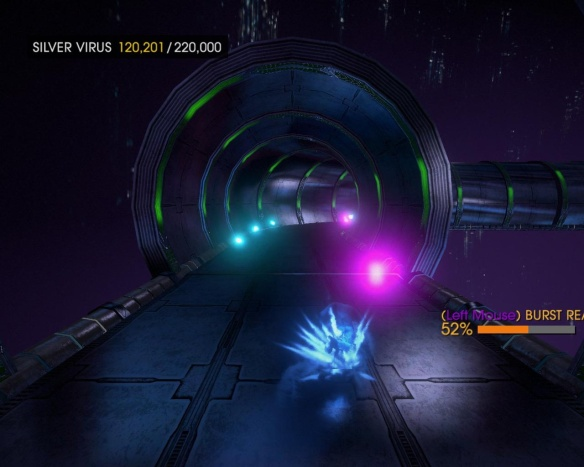 This is pretty much the Chaos Emerald bonus stage from Sonic 2, thankfully without the full 360-degree tunnel nonsense.