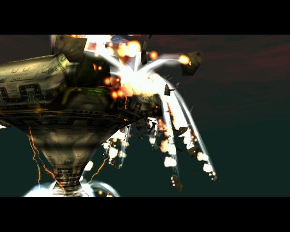 This spaceship represents all my hopes and dreams. The explosions are them being shattered.
