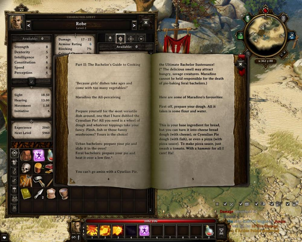 As well as needing equipment, Original Sin requires you to learn the recipes by discovering books -- another constraint that Skyrim and Pillars of Eternity lack.
