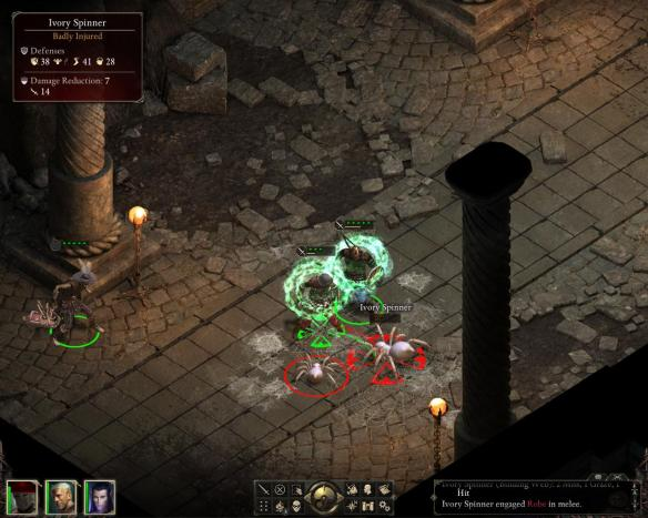 Pillars of Eternity's time-to-spider is abysmal. (Its time-to-crate is also 0, you start in a camp with crates visible.)