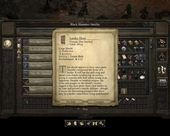 Just like Baldur's Gate, there is good banter hidden in some item descriptions and bestiary entries.