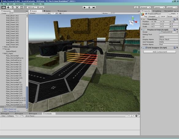 Modular walls! Modular roads! Modular pipes! LASERFENCE!