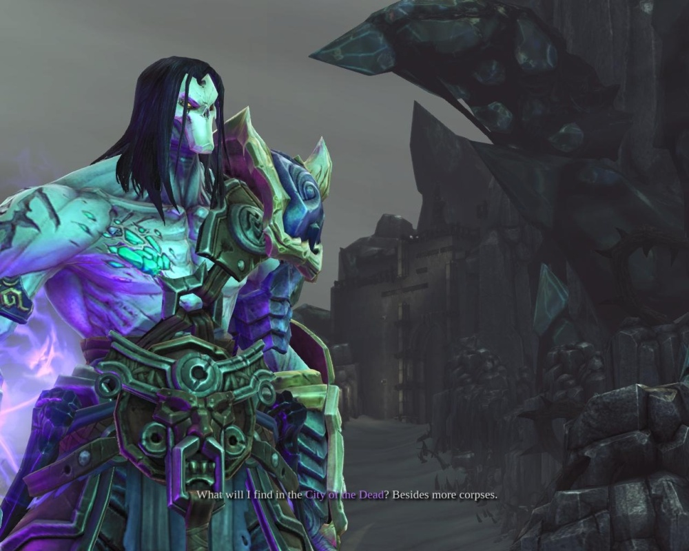 Though no matter how much kit you acquire, Death will never wear enough to cover up his rippling lilac pecs.