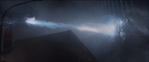 "I was actually expecting the reboot to be so down-to-earth that they'd just not give Godzilla his atomic breath, so it was a moment of sheer joy when his spines started lighting up. Our radioactivity hand-wave might not stretch to ""atomic breath"" but I'm sure we can find some other chemical justification."
