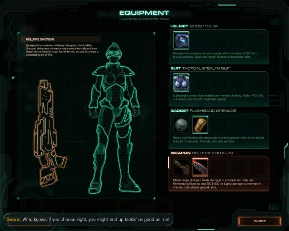 Remember when you could change equipment during a mission, with items and inventory slots? No, me either. That would never take off.