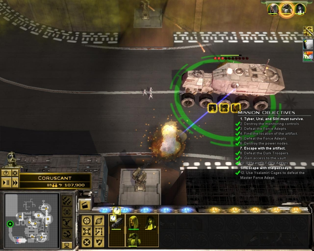 ... and it ends with a Carmageddon-style race. Poor stormtroopers are mulched under the titanic wheels of the Juggernaut.