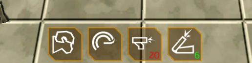 The charge icon is pretty much a trace from Nox, but the rest are all me! Charge, spin attack, shoulder guns and mortar.