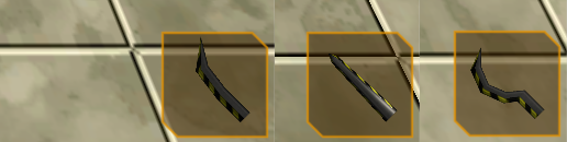 When I roll out pseudo-generated items that change colour based on what metal they're made of this will really take off. Until then, I made a few sword variations.