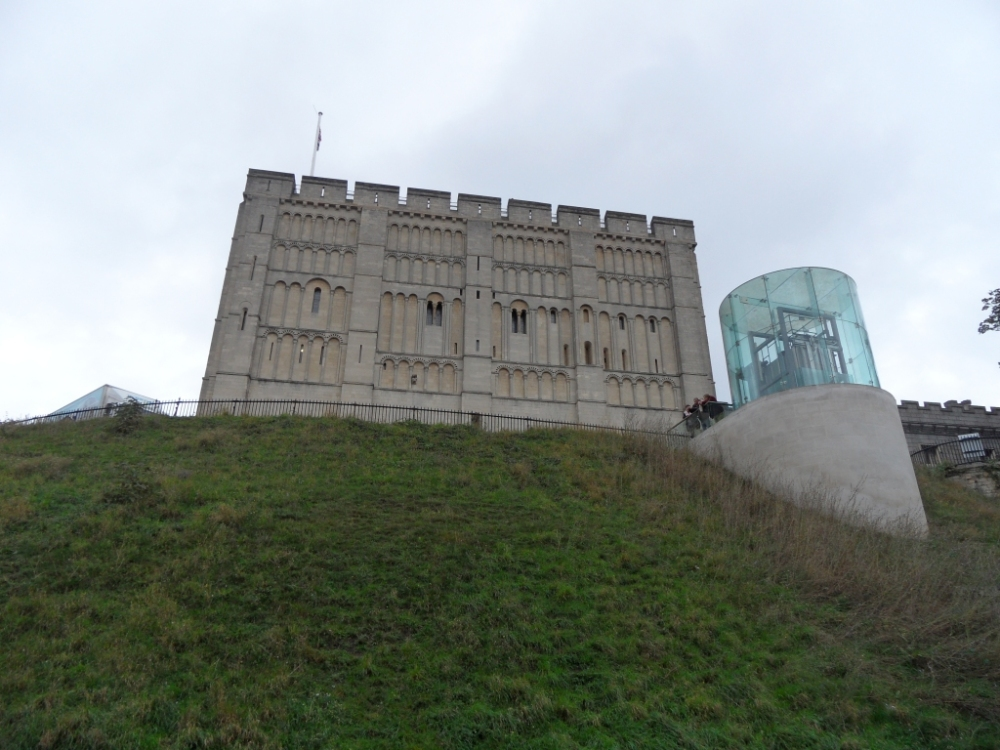 Norwich Castle is mostly old but has some modernist additions.