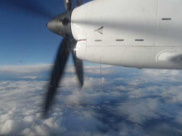 I've never flown on a propellor plane before either.