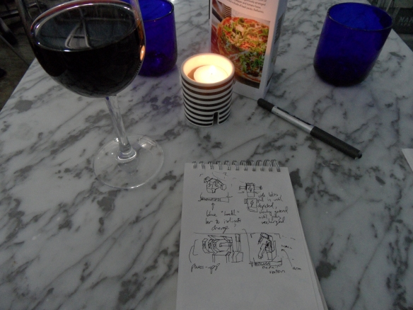 The staff tried not to say anything, but I could tell by their faces that the concept of a man dining alone with his sketchpad was completely alien, even disgusting, to them.