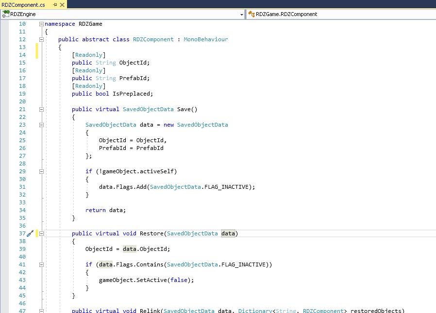 RDZComponent code example