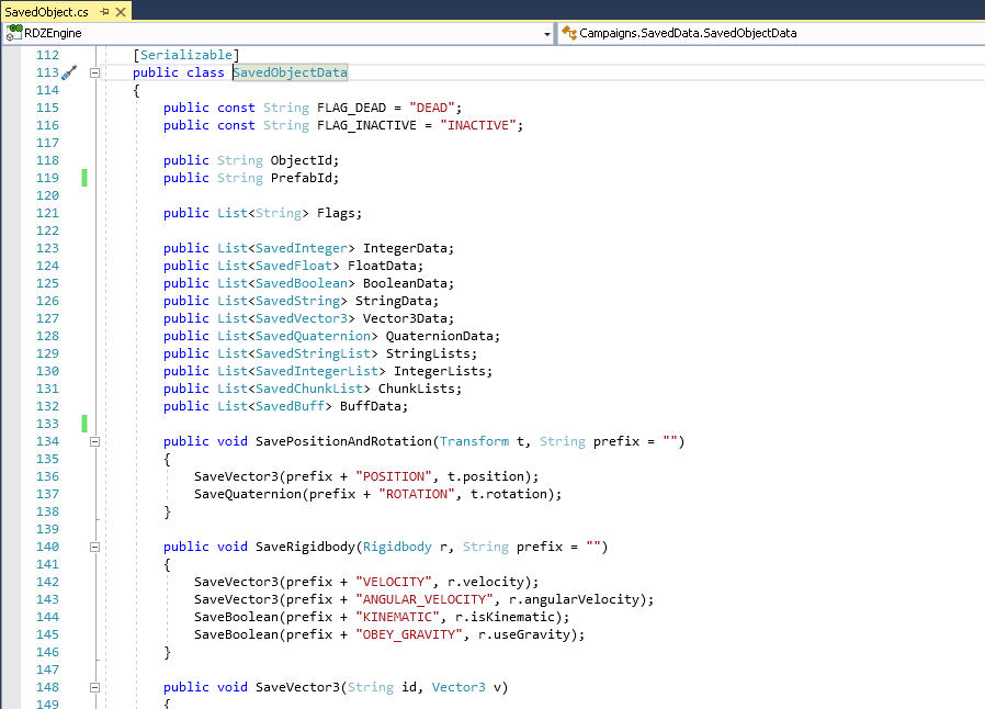 Saved object data code example