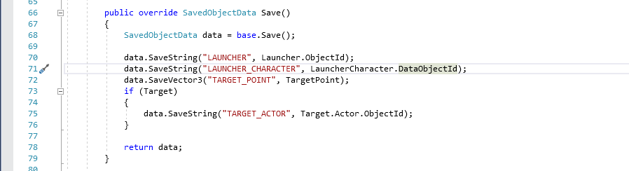 Example of save method.